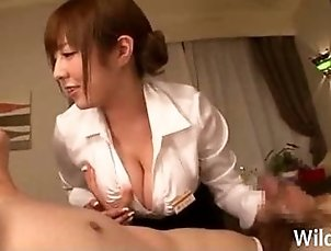 Big Tits Japanese Masseuse