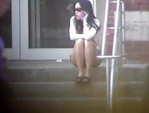 hot asian milf in shorts spy