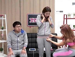 Korean Fitness Girl Shim E. on tv program 02
