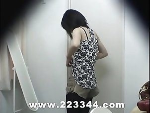 Peeping the locker room of Japanese babes by hidden cam.