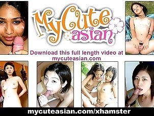 Asian amateur gets her bald cunt fucked