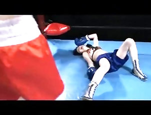 Rina VS Yuu down and KO Scene