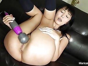 Marica walks through the house before masturbating