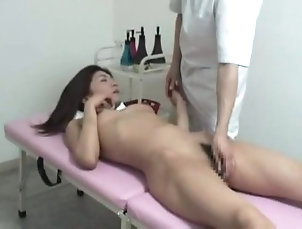Young Japanese wife reluctant cheating with massager part 2