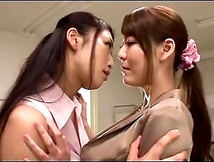 Busty Lesbian Teacher Reiko Kobayakawa Fucks Schoolgirls With Her Strap-on